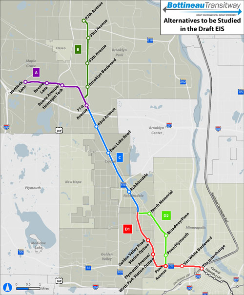 Bottineau-route-map-Golden-Valley-and-Minneapolis-alternatives
