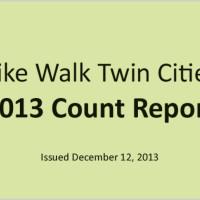 Bike Walk Twin Cities 2013 Count Report