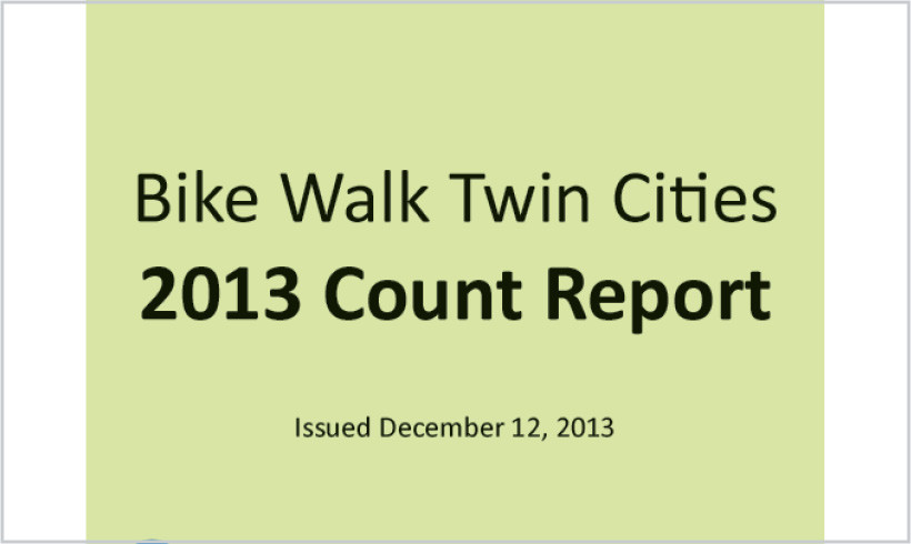 Bike Walk Twin Cities 2013 Count Report