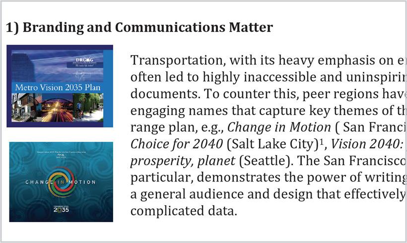 Long Range Planning in Peer Cities