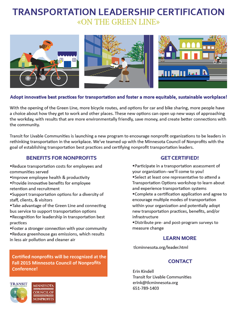 Transportation Leadership Certification For Nonprofits Transit For