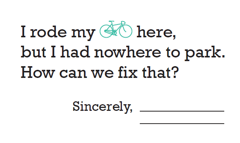 Bike Parking Request Cards
